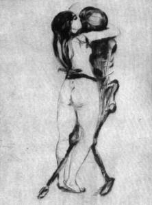 Girl and Death by Edward Munch