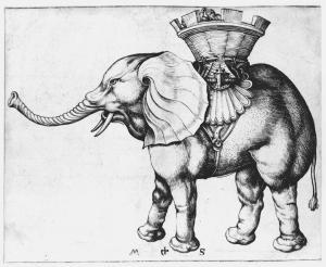 Elephant by Martin Schongauer