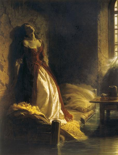 Princess Tarakanova, In The Peter And Paul Fortress At The Time Of The Flood by Konstantin Dmitriyevich Flavitsky