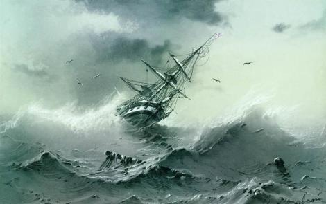 Shipwreck by Ivan Aivazovsky