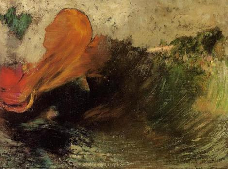 The death of Ophelia by Odilon Redon