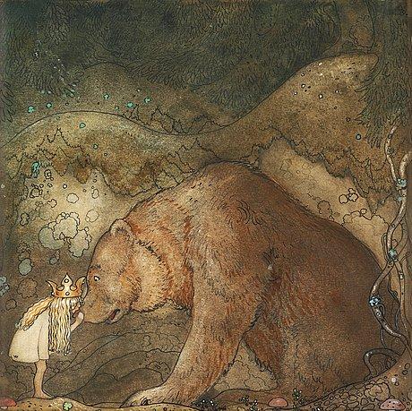 Poor little bear by John Bauer