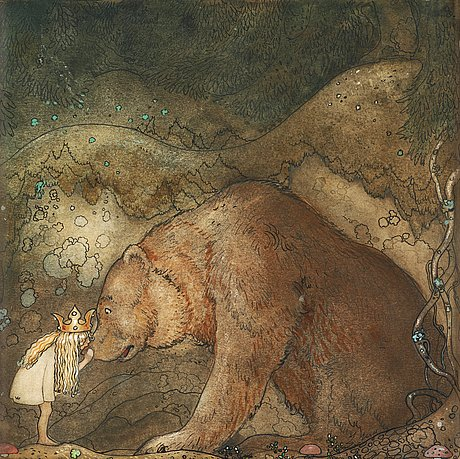 Poor little bear by John Bauer