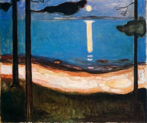 Moonlight by Edvard Munch