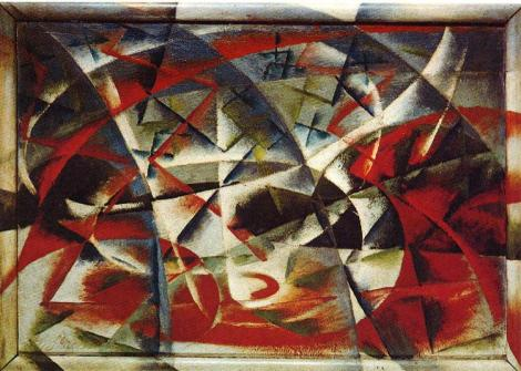 Abstract Speed + sound by Giacomo Balla