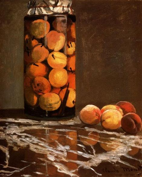 Jar of Peaches by Claude Monet