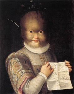 Portrait of Antoinetta Gonzales by Lavinia Fontana