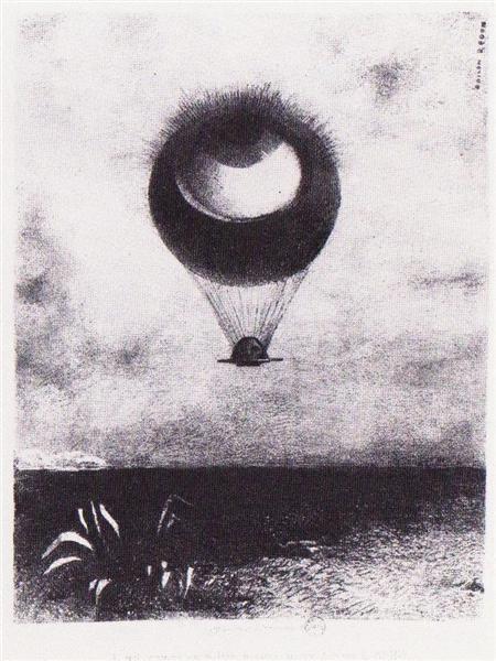 The Eye Like A Strange Balloon Goes To Infinity by Odilon Redon