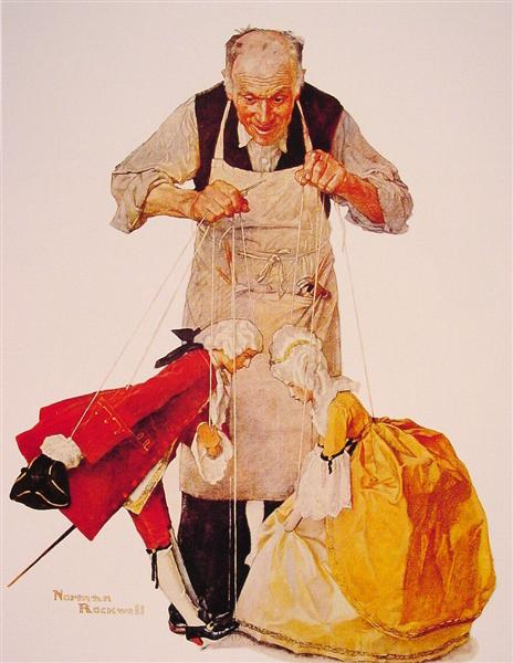 The puppeteer by  © Norman Rockwell