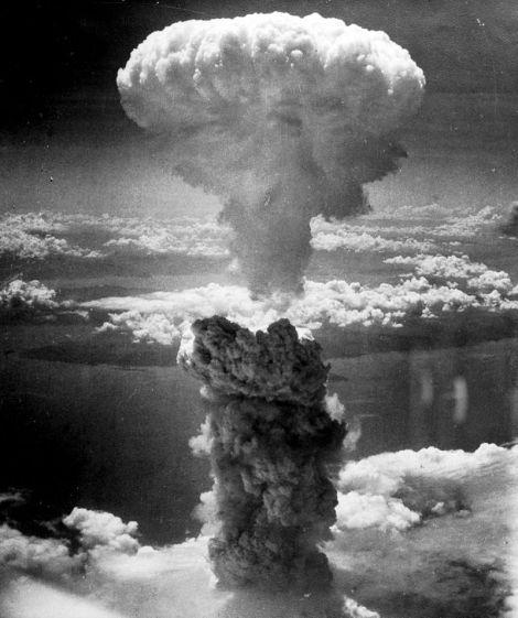 Mushroom Cloud from Nagasaki bomb