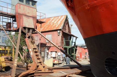 There is still an old shipyard in Tromsø