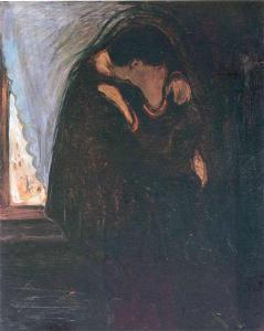 Kiss by Edvard Munch