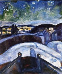 Starry night by Edward Munch