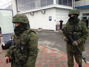 Little Green men in Simferopol Airport, 28 February 2014.