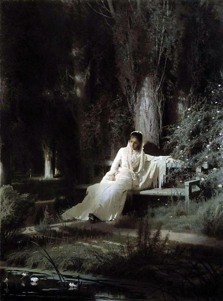 Moonlit night by Ivan Kramskoi