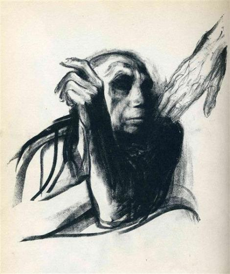 Call of death by Kathe Kollwitz