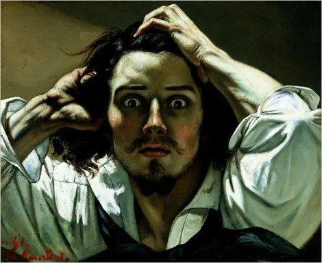 The desperate man (self portrait) by Gustave Courbet