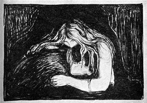 Vampire II, by Edward Munch