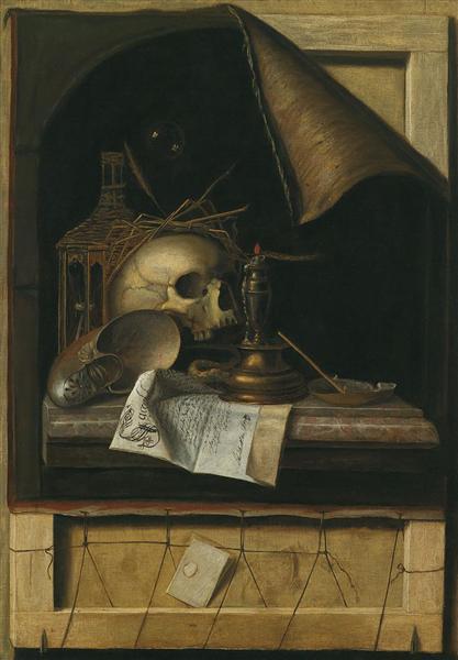 Vanitas by  Cornelis Norbertus Gysbrechts