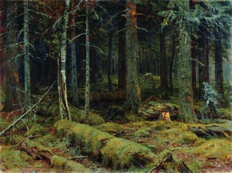 Dark Forest by Ivan Shishkin