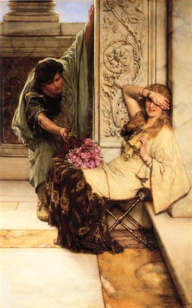 Shy by Sir Lawrence Alma-Tadema