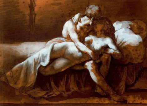 The Kiss by Théodore Géricault