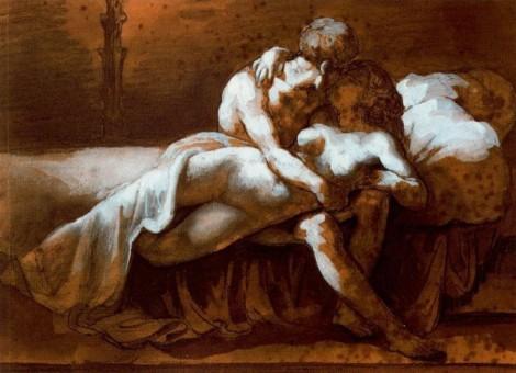 The Kiss by Théodore Géricault