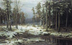 First Snow by Ivan Shishkin