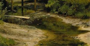 Forest river by Ivan Shishkin