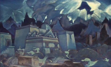 The Destruction Of Atlantis by Nicholas Roerich