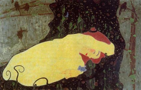 Danae by Egon Schiele