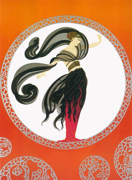 Flames of love by Erte