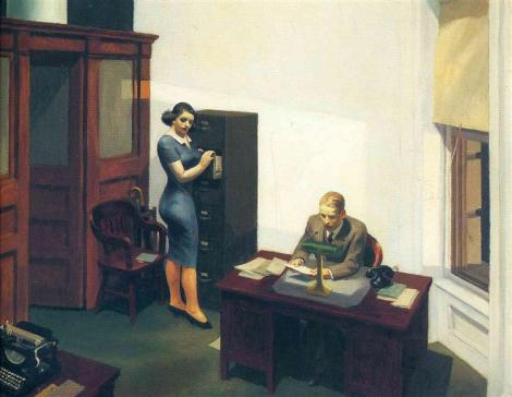 Office at night by Edward Hopper