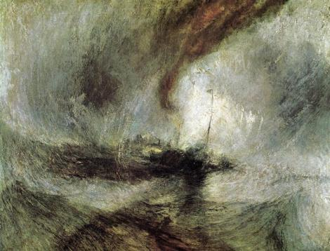 Storm Seam Boat Off A Harbour's Mouth Making Signals In Shallow Water, And Going By The Lead by William Turner