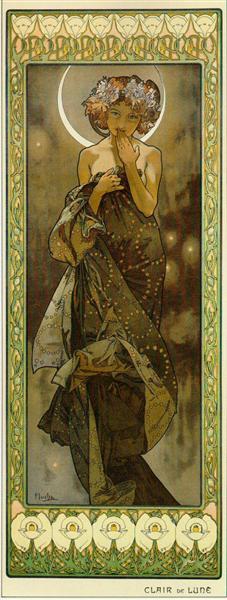 Claire de lune by Alphonse Mucha