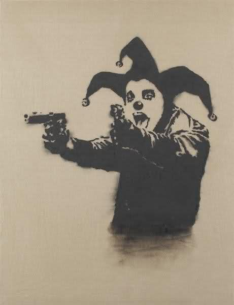 Insane Clown by Banksy