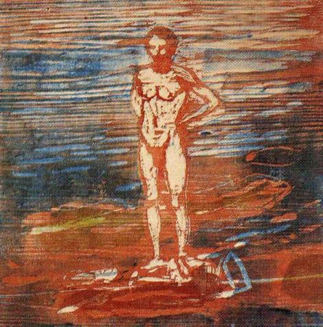 Man Bathing by Edvard Munch
