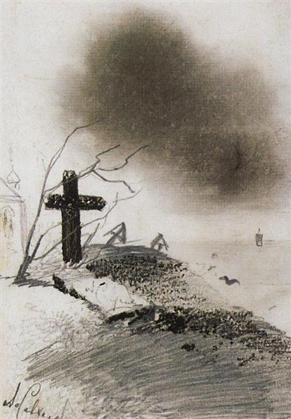 Grave by Alexei Savrasov